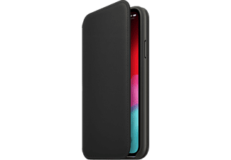 APPLE Cover Folio en cuir iPhone Xs Noir (MRWW2ZM/A)