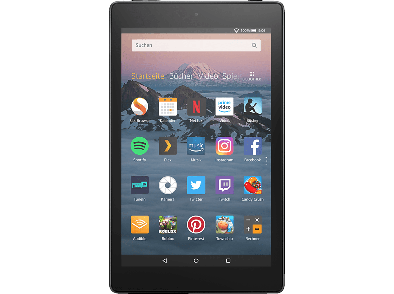 AMAZON Fire HD 8, Tablet , 16 GB, 8 Zoll, Schwarz