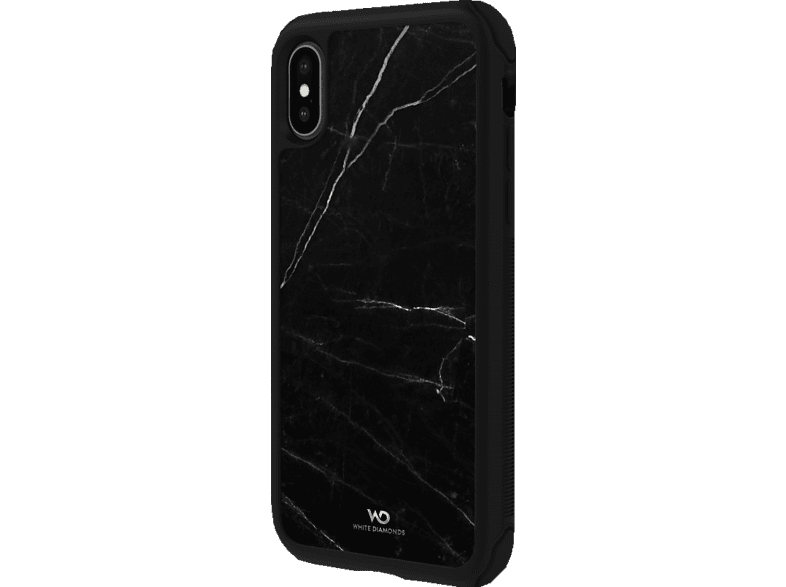 WHITE DIAMONDS Tough Marble , Backcover, Apple, iPhone X, iPhone XS, Schwarz