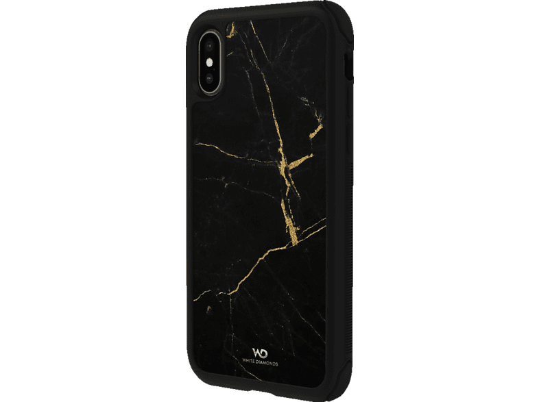 WHITE DIAMONDS Tough Marble Backcover Apple iPhone X, iPhone XS  Schwarz/Gold