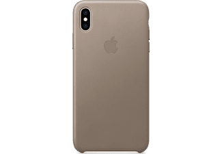 APPLE Cover en cuir iPhone Xs Max Taupe (MRWR2ZM/A)