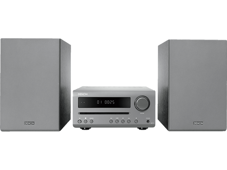 DENON D-T1 Kompaktanlage (CD, CD-R/RW, WM, MP3, Grau)