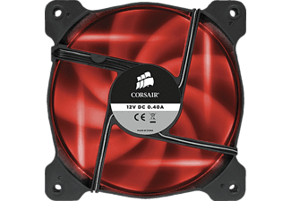 CORSAIR Air Series AF120 LED Red Quiet Edition Gehäuselüfter, Schwarz/Rot