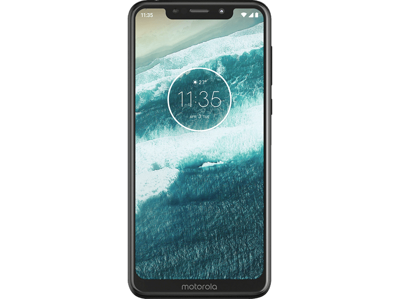 "Móvil - Motorola One, 5.9"", HD+, Android One, 8 x 2.0GHz, 4 GB RAM, 64 GB, 13 + 8 MP, Negro"