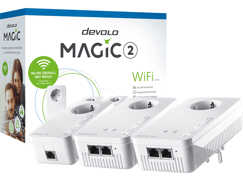 DEVOLO devolo 8391 Magic 2 WiFi 2-1-3 Multiroom Kit Powerline