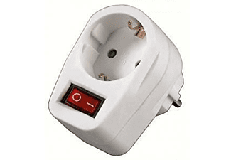 Ladrón Enchufe - Hama Socket Adapter, commutable, 1salida, AC 230V, Blanco