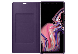 Funda libro para Samsung Galaxy Note 9 - Samsung LED View Cover, Tarjetero, Pantalla LED, Lila