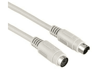 Hama Cable Extensión Ratón - HamaExt. Cable Ps/2 Mouse, 2M, Gris