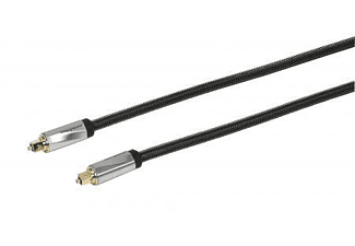 Cable óptico - Vivanco 32030, 2m, TOSLINK TOSLINK, Negro cable de fibra optica
