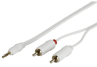 VIVANCO Vivanco MS A2 18W 1.8m 3.5mm 2 x RCA Blanco cable de audio