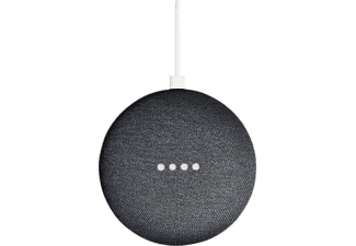 Altavoz inteligente - Google Home Mini, Bluetooth, Sonido 360º, Micro USB, Carbón, domótica