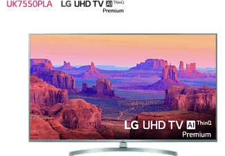 "TV LED 65"" - LG 65UK7550PLA, UHD 4K, 3 x HDR, NanoCell, Panel IPS, AI Smart TV ThinQ webOS 4.0,"