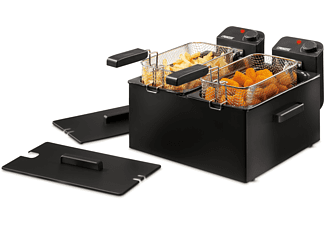 Freidora - Princess 183028 DOUBLE BLACK FRYER Potencia 2000Wx2, Doble cubeta de 3L cada una, Color