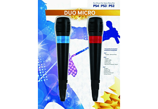 Pack 2 micrófonos Sing Star, con cable USB