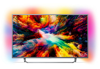 "TV LED 50""- Philips 50PUS7303/12, UHD 4K, Ambilight 3 lados, P5, HDR Plus, Quad Core, Pixel Precise"