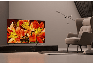 "TV LED 65"" - Sony KD65XF8596BAEP, Ultra HD 4K HDR, procesador X1, Android TV, Triluminos, 1000Hz,"