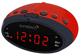 Radio despertador - Sunstech FRD16, Radio AM/FM, LED, Roja