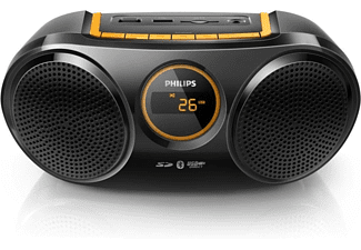 PHILIPS Altavoz inalámbrico - Philips AT10/00, Bluetooth, negro y naranja