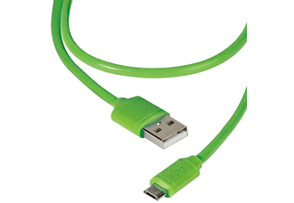 Cable USB - Vivanco, 1.2 m, USB-Micro USB, Verde