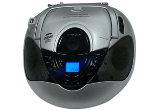 Radio CD - Nevir NVR-474U Plata, Lector CD, Radio AM/FM, Puerto USB