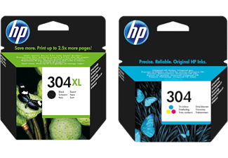 HP 304 Zwart XL - Cyaan - Magenta - Geel (BUNDLE-HP304XL)