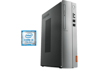 PC Sobremesa - Lenovo Ideacentre 510S-08IKL, Intel® Core i3-7100, 8 GB RAM, 1 TB HDD, Intel® HD