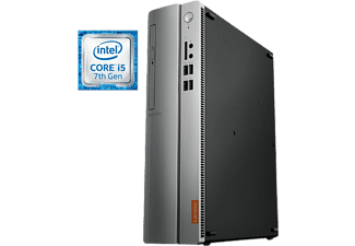 PC Sobremesa - Lenovo Ideacentre 510S-08IKL, Intel® Core i5-7400, 4 GB RAM, 1 TB HDD, Windows 10,