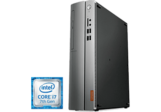 PC Sobremesa - Lenovo Ideacentre 510S-08IKL, Intel® Core i7-7700, 12 GB RAM + 16 GB Intel®