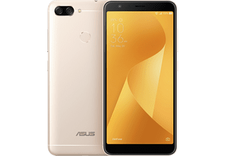 Móvil - Asus ZENFONE MAX PLUS, Metal oro, 5.7, 4G, 8 MP frontal y 8 MP+16 MP trasera, 32GB
