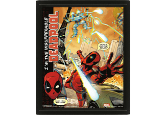 Póster 3D - Pyramid International, Deadpool, Marvel