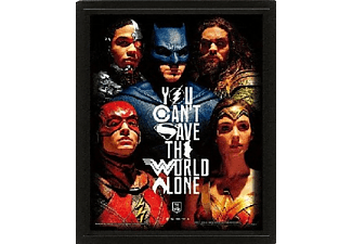 Póster 3D - Pyramid International, Save the World, Justice League