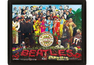 Póster 3D - Pyramid International, Sargent Pepper, The Beatles