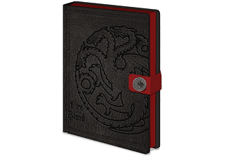 Libreta - Sherwood Game of Thrones, A5, Negro y rojo
