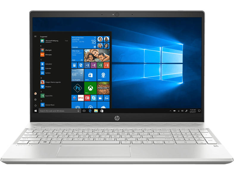HP 15-cs0305ng, Notebook, Core™ i5 Prozessor, 16 GB RAM, 1 TB HDD, 128 SSD, GeForce MX130, Silber