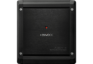 Amplificador coche - Kenwood X301-4, 4 Canales, 200 W, Clase D, Negro