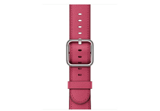 Correa para Apple Watch - Apple MQV22ZM/A, Fucsia, Cuero