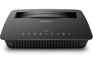 Router WiFi - Linksys X6200, Doble banda (2,4 GHz / 5 GHz), Gigabit Ethernet, Negro