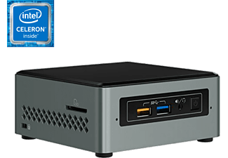 Mini PC - Intel NUC6CAYS, Intel® Celeron® J3455, Wi-Fi, Bluetooth, HDMI, Negro y gris
