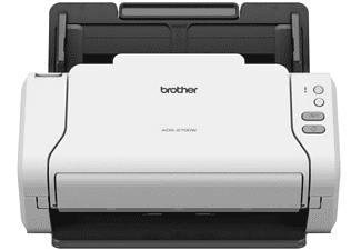 Scanner - Brother ADS-2700W, Doble cara, 35 hpm, WiFi, USB, Blanco y negro