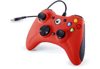 Mando - Nacon GC-100XF, Gamepad, Cable, PC, Rojo