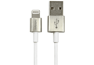 Cable Lightning a USB - 1m, color blanco