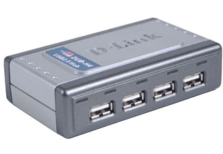 D-Link Hi-Speed USB 2.0 4-Port Hub nodo concentrador