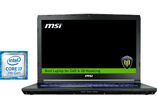 Portátil - MSI WE72 7RJ-1040XES, 17.3, Full HD, Intel® Core i7-7700HQ, 16 GB RAM, 1 TB HDD + 256