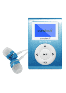 4e4a1a09b ... Reproductor MP3 - Sunstech Dedalo III, Azul, 8GB, Radio FM