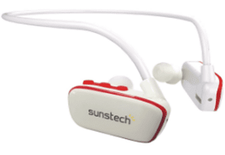 Reproductor MP3 - Sunstech Argos, 4GB, Waterproof, USB, Rojo