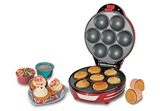 Máquina de cupcakes - Ariete Muffin Cupcake Party Time, 700W, superficie antiadherent