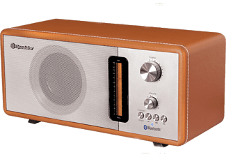 Radio - Roadstar HRA-1350US/BT, FM, USB, Bluetooth, SD, Marrón y plateado