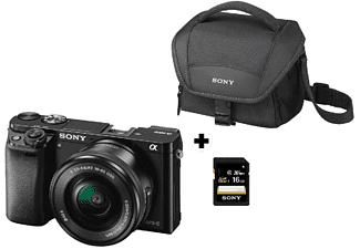 Pack Cámara EVIL - Sony A6000, 24.3 MP, Full HD, WiFi, Negro + E PZ 16-50 mm f/3.5-5.6 OSS