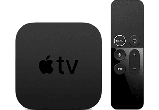 Reproductor multimedia - Apple TV 64GB, 4K Ultra HD, Mando Apple TV Remote, Negro