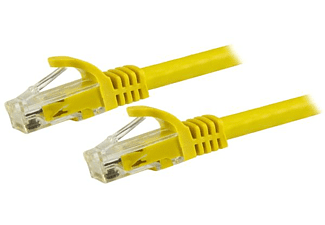 Cable de red - 0,5m, Cat6, UTP, Ethernet, Gigabit, RJ45, sin Enganches, Amarillo